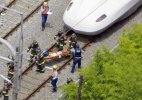 Man sets himself on fire on Japanese bullet train
