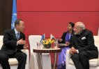 Ban discusses UNSC reform with Modi, invites him to UN summit
