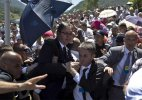 Serbia PM Aleksandar Vucic attacked at Srebrenica ceremonies