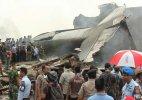 Indonesia military transport plane crashes in Medan; 37 dead