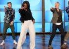 Michelle Obama dances with Ellen DeGeneres to 'Uptown Funk'