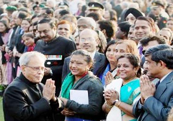 At his Republic Day reception, President Pranab gives tradition a break