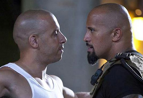 Vin diesel vs the rock size