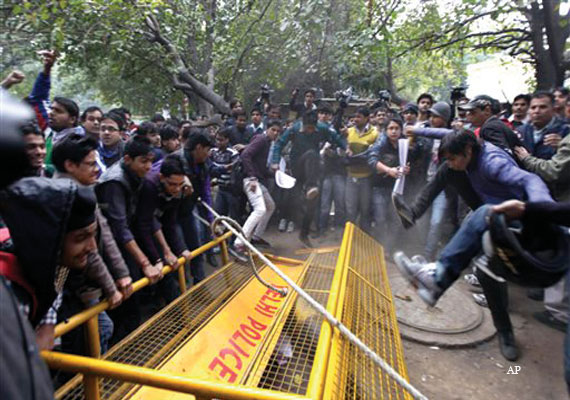 Gangrape:  protests rage on in Delhi