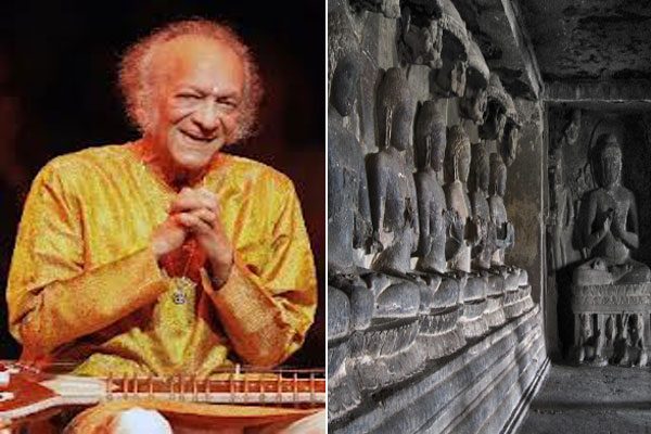 Ellora caves 'world's best backdrop' for Pandit  Ravi Shankar