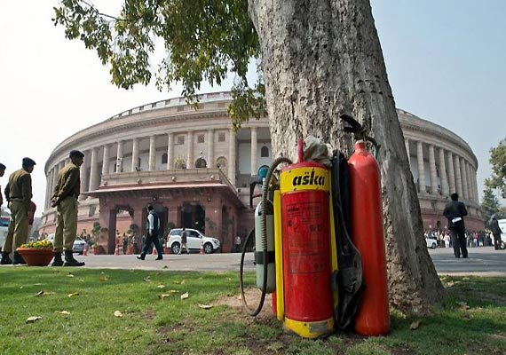 Fire in parliament house