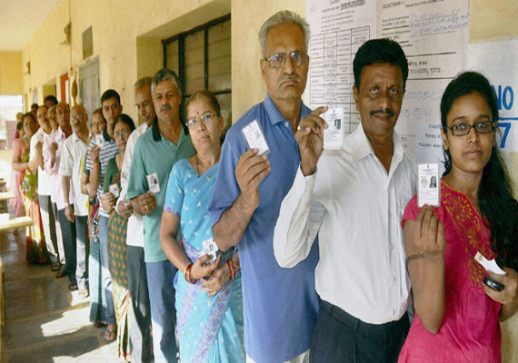 70.23 pc voter turn out estimated in peaceful Karnataka polls