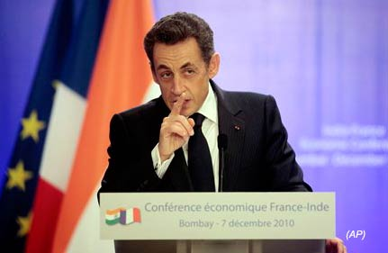 Sarkozy Asks Pakistan To Be Resolute In Fight Against Terror