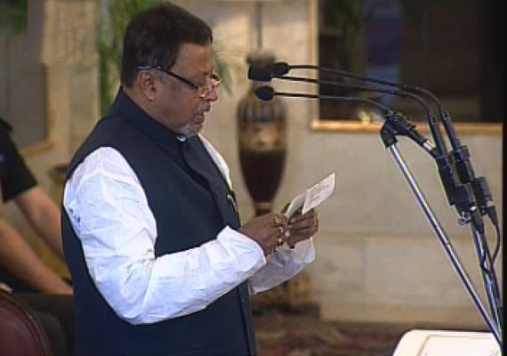 Mukul Roy Sworn-In As Railway Minister