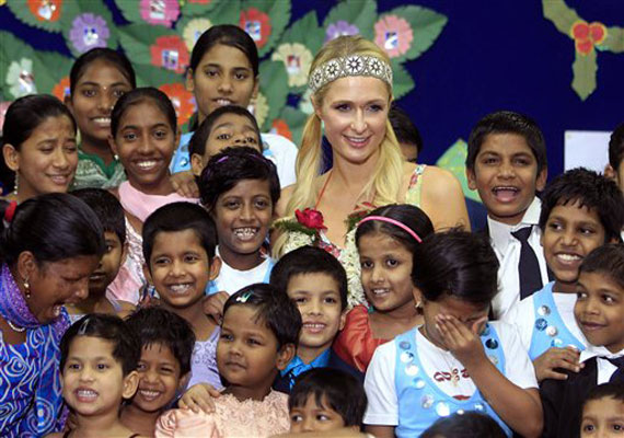 Paris Hilton dances with orphans, prays at Siddhivinayak temple in Mumbai