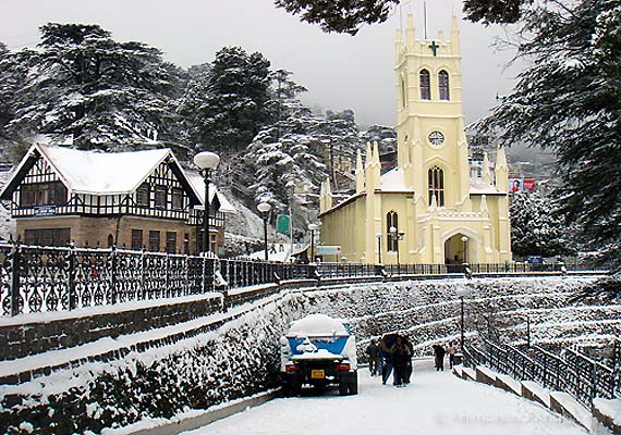 Shimla snowfall at eight-year record