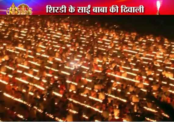 1,08,000 diyas lighted in Shirdi on Diwali