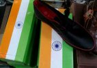 Disgraceful: Chinese company packs shoes in boxes made of Indian flag