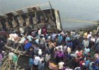 Several dead injured as bus plunges into river in Gujarat