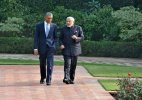 Modi-Obama bonhomie on display at Hyderabad House