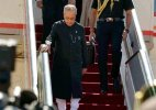 "President Pranab Mukherjee arrives on a ""milestone"" visit to Israel"