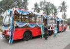 Indo-Bangla friendship bus arrives from Dhaka