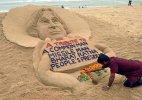 Sand artist Sudarsan Pattnaik pays tribute to APJ Abdul Kalam
