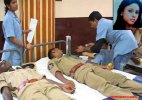 Angels in uniform: Cops donate blood to an ailing model