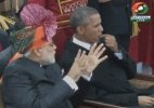 Obama in India: US President spotted chewing gum during Republic Day parade