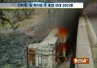 21 dead as bus falls off bridge, catches fire in MP