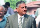 V K Singh attends Pak National Day reception