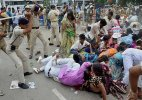 50 injured as police lathicharge Nishad Adhikar March in Patna