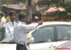 Bizarre: Man challaned for not wearing helmet in 'car'