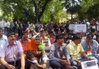 Kashmiri Pandits stage protest over issue of return to Valley