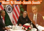 'Mann Ki Baat' features Obama, Modi; no hard issues discussed