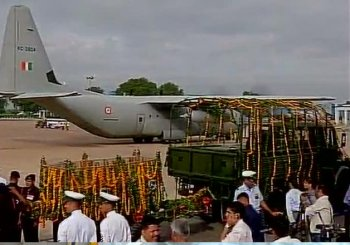Mortal remains of APJ Abdul Kalam flown to Rameswaram