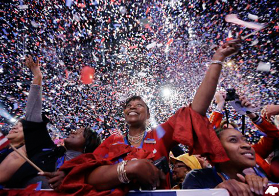 Cheers in Obama camp, Romney supporters subdued