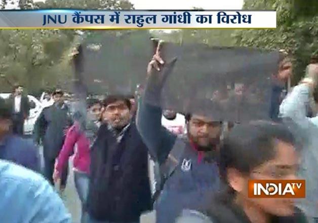 Rahul JNU black flag