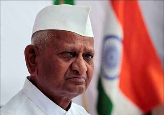 Anna rejects new draft of Lokpal bill, calls it 'farce'