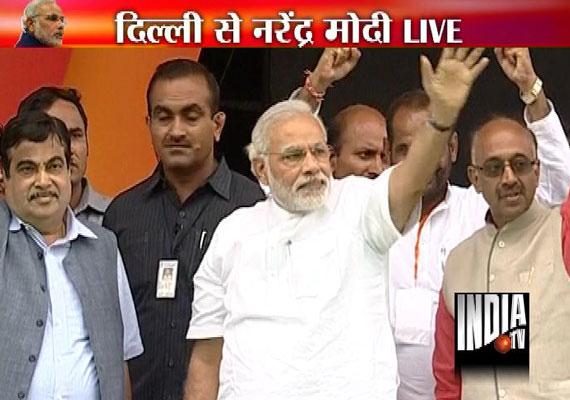 LIVE: Narendra Modi's Delhi Rally