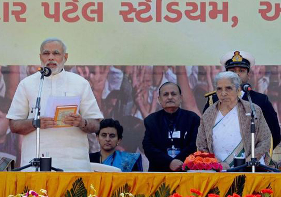 Narendra Modi takes charge of Gujarat again - for fourth term in a row