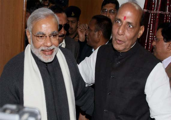 Narendra Modi, Rajnath discuss 2014 LS polls