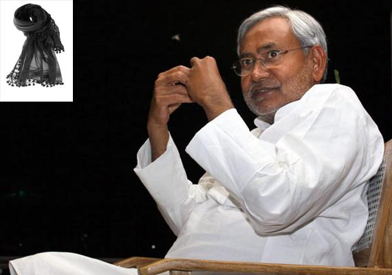 Why is Nitish Kumar afraid of black dupatta?