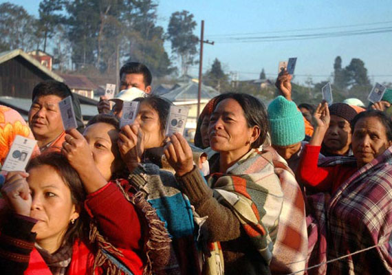 30 per cent polling in first three hours in Nagaland