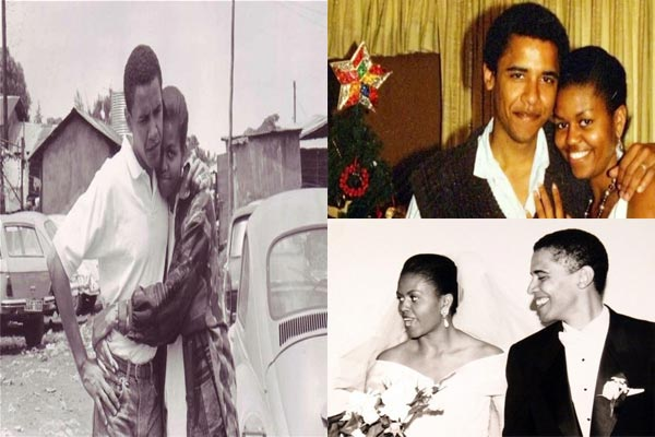 Rare pictures of Barack Obama, Michelle Obama and family
