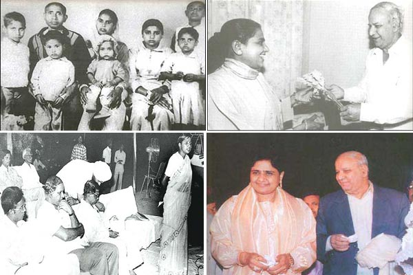 Rare pictures of Mayawati and Kanshi Ram