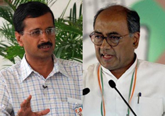 'Aam Aadmi' Party reflects intellectual bankruptcy of Kejriwal: Digvijay Singh