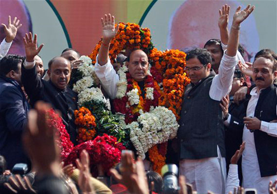 Rajnath Singh elected BJP president, vows to bring back party to power