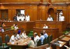 AAP MLA tears MHA notification in Assembly