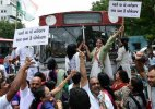 Congress workers hold agitations against suspension of MPs in Gujarat