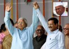 Shaking hands with Lalu hugging him is not okay Anna Hazare