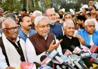 Nitish Kumar to take oath as Bihar's new CM today, Jitan Ram Manjhi extends best wishes