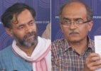 AAP rebels led by Bhushan, Yadav hold 'Swaraj Samvad' in Gurgaon