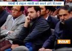Rahul Gandhi visits JNU, welcomed with black flags and slogans