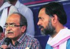 Swaraj Samvad: Yadav-Bhushan duo hits out at AAP leadership, demand transparency